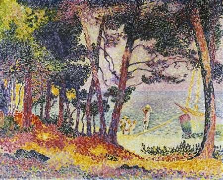 konfigurieren des Kunstdrucks in Wunschgröße The Pine Wood (Provence) von Cross, Henri Edmond