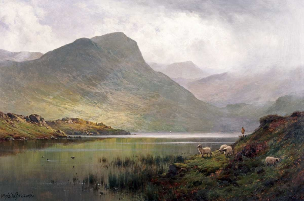 konfigurieren des Kunstdrucks in Wunschgröße Loch Ness von De Breanski, Alfred