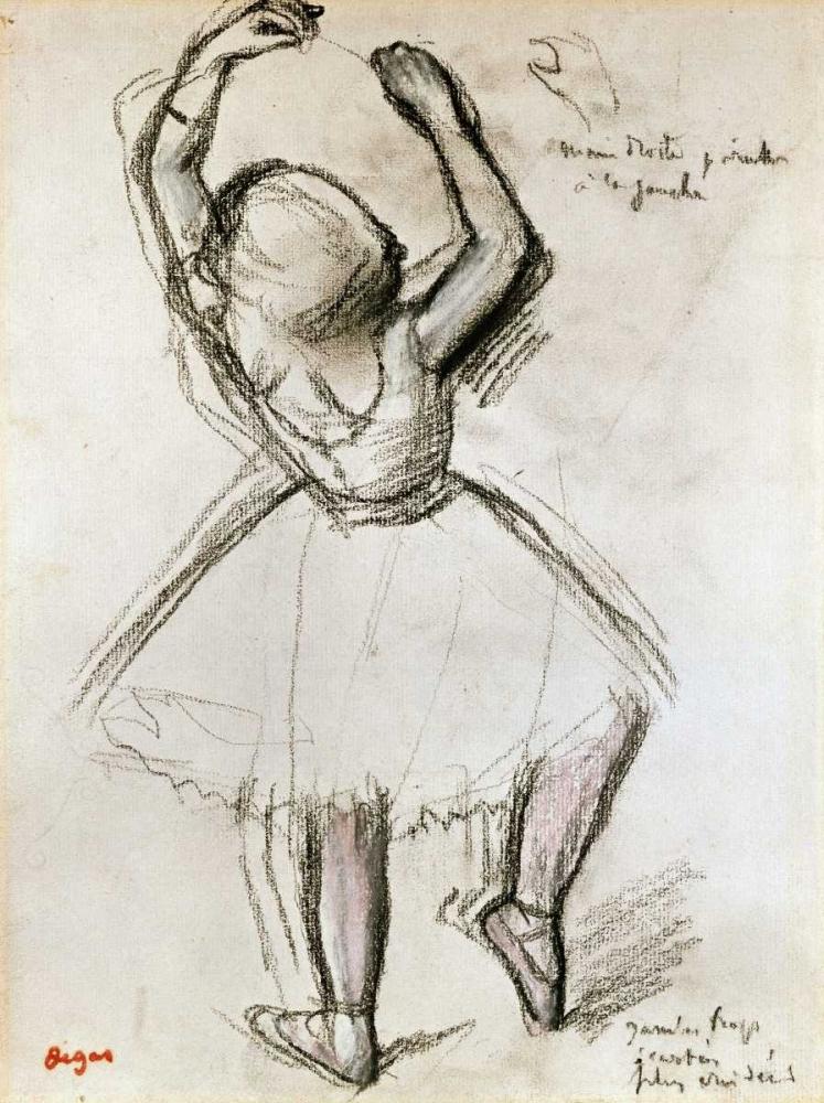 konfigurieren des Kunstdrucks in Wunschgröße Backview of a Dancer von Degas, Edgar