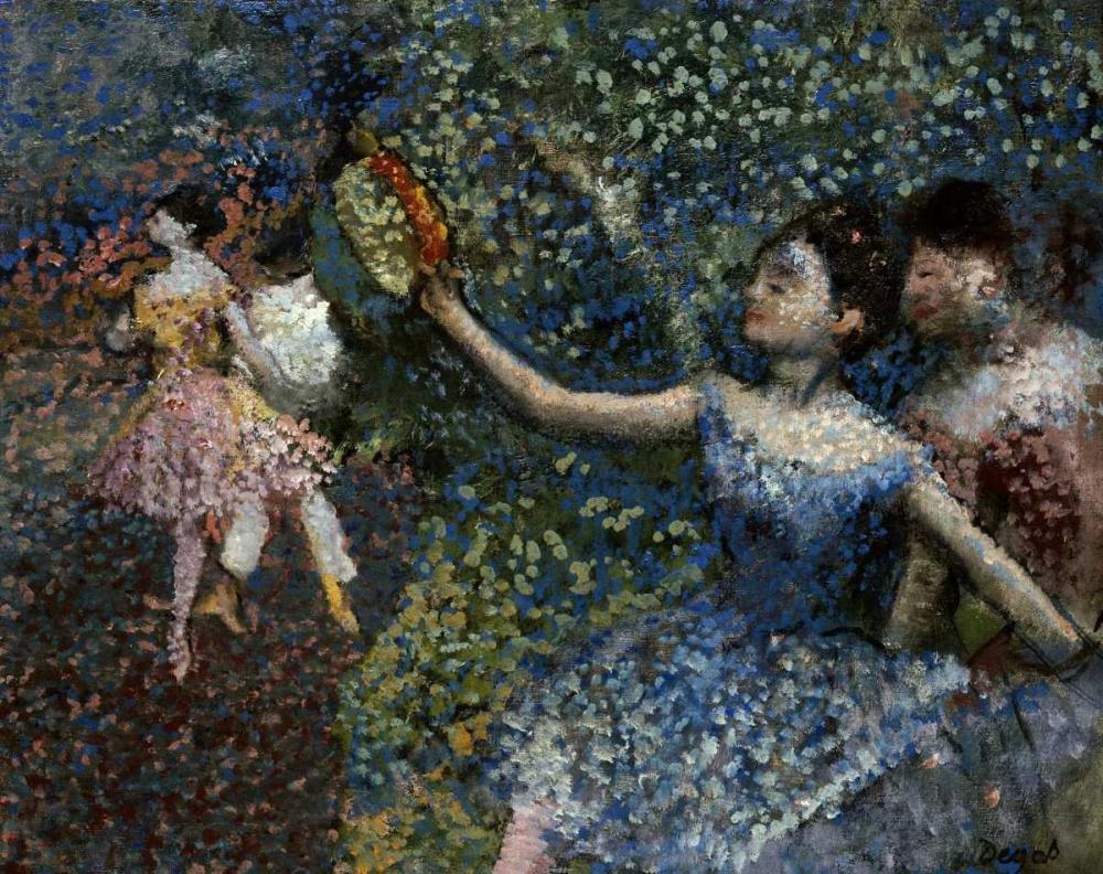 konfigurieren des Kunstdrucks in Wunschgröße Dancer With a Tambourine von Degas, Edgar