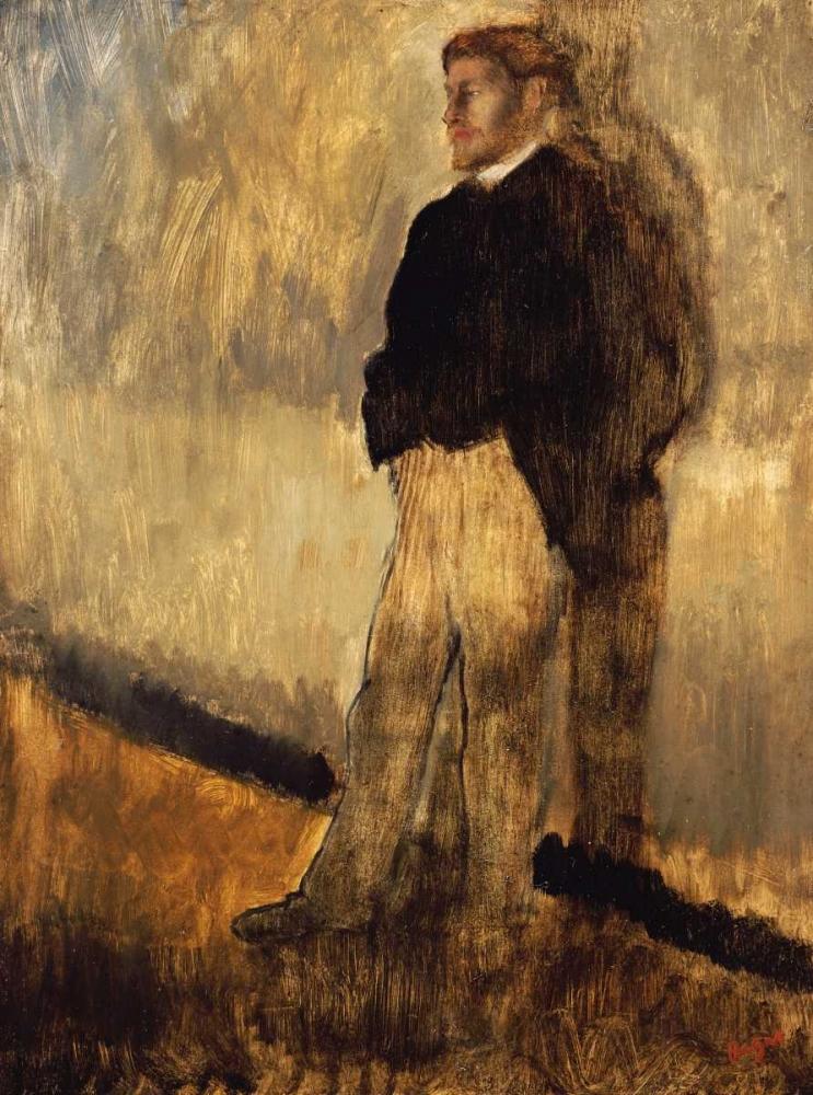 konfigurieren des Kunstdrucks in Wunschgröße Portrait of a Man von Degas, Edgar