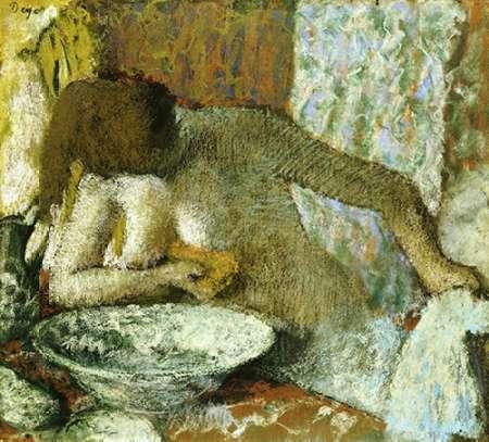 konfigurieren des Kunstdrucks in Wunschgröße Woman at Her Toilet von Degas, Edgar