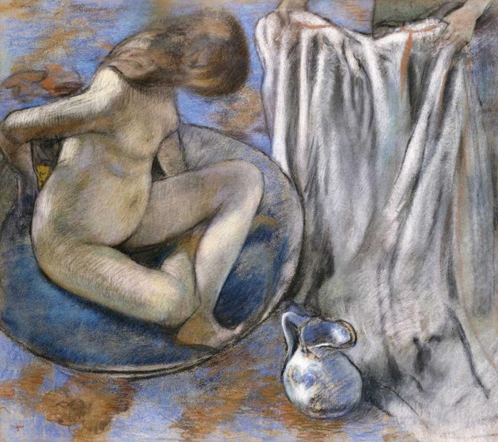 konfigurieren des Kunstdrucks in Wunschgröße Woman In The Tub von Degas, Edgar