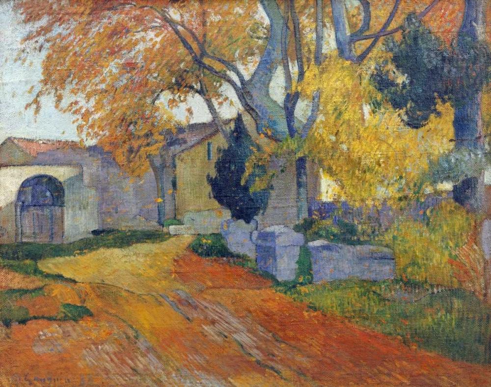 konfigurieren des Kunstdrucks in Wunschgröße LAllee Des Alyscamps von Gauguin, Paul