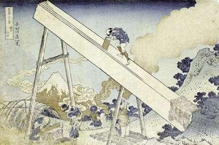 konfigurieren des Kunstdrucks in Wunschgröße In The Totomi Mountains von Hokusai