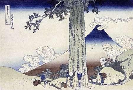 konfigurieren des Kunstdrucks in Wunschgröße Mishima Pass In Kai Province von Hokusai