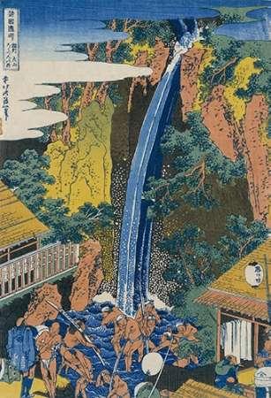 konfigurieren des Kunstdrucks in Wunschgröße Roben Waterfall at Ohyama von Hokusai