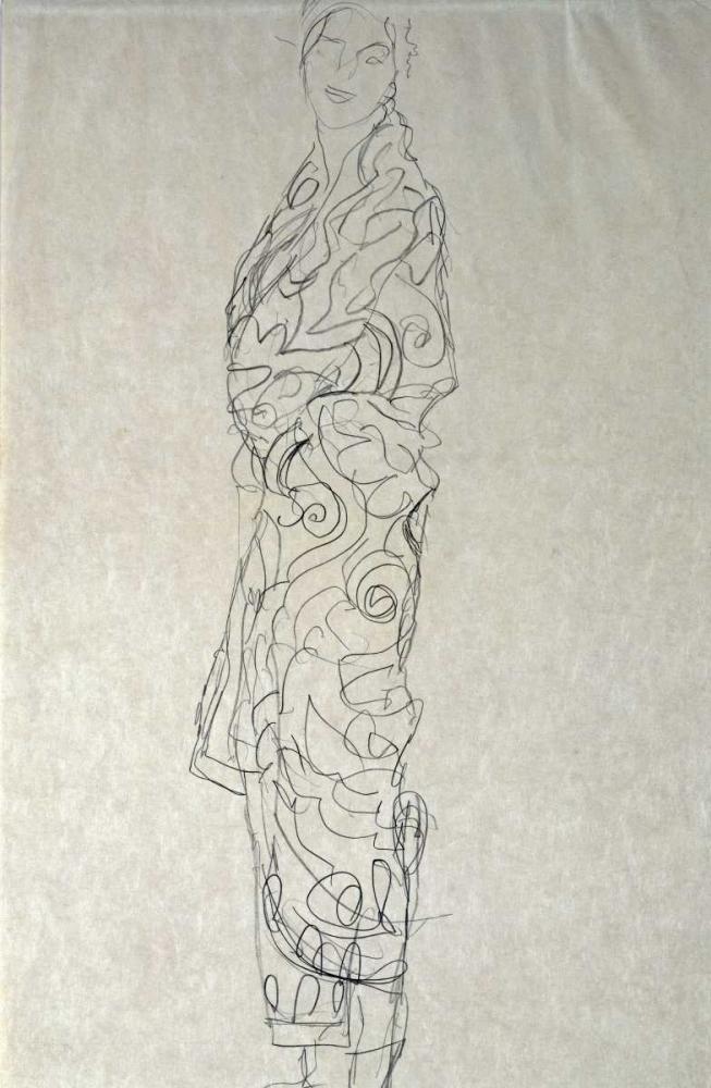 konfigurieren des Kunstdrucks in Wunschgröße Woman In a Kimono von Klimt, Gustav