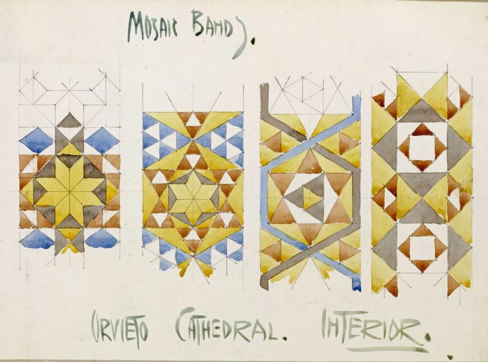 konfigurieren des Kunstdrucks in Wunschgröße Orvieto Cathedral, Mosaic Bands von Mackintosh, Charles Rennie