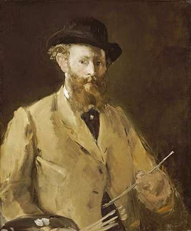 konfigurieren des Kunstdrucks in Wunschgröße Self Portrait with a Palette von Manet, Edouard