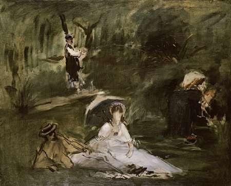 konfigurieren des Kunstdrucks in Wunschgröße Under the Trees von Manet, Edouard