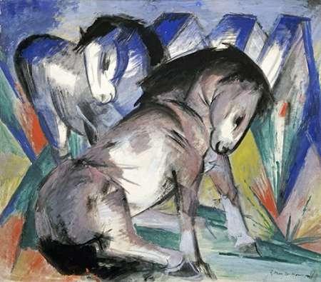 konfigurieren des Kunstdrucks in Wunschgröße Two Horses von Marc, Franz