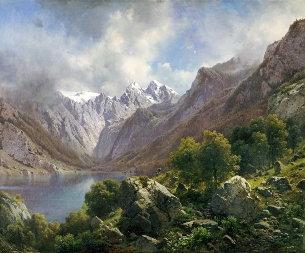 konfigurieren des Kunstdrucks in Wunschgröße An Alpine Lake von Einzelbilder