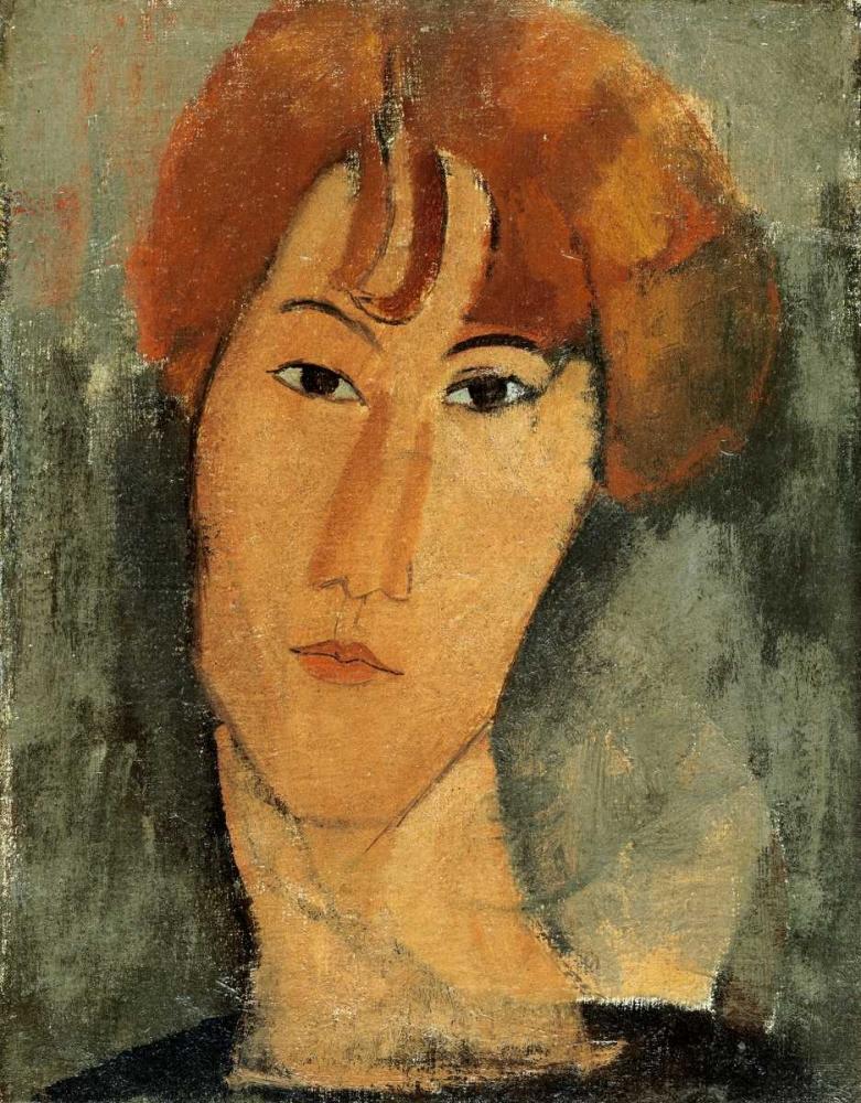 konfigurieren des Kunstdrucks in Wunschgröße A Young Woman von Modigliani, Amedeo