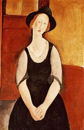 konfigurieren des Kunstdrucks in Wunschgröße Portrait of Thora Klinckowstrom von Modigliani, Amedeo