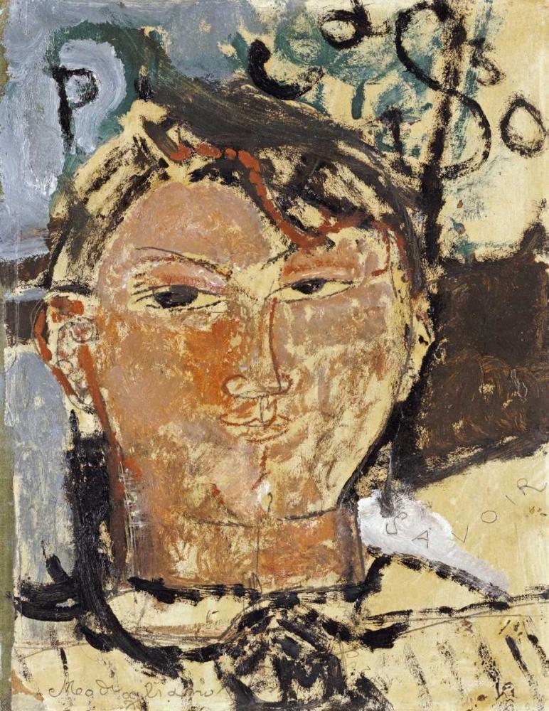 Portrait De Picasso von Modigliani, Amedeo <br> max. 74 x 97cm <br> Preis: ab 10€
