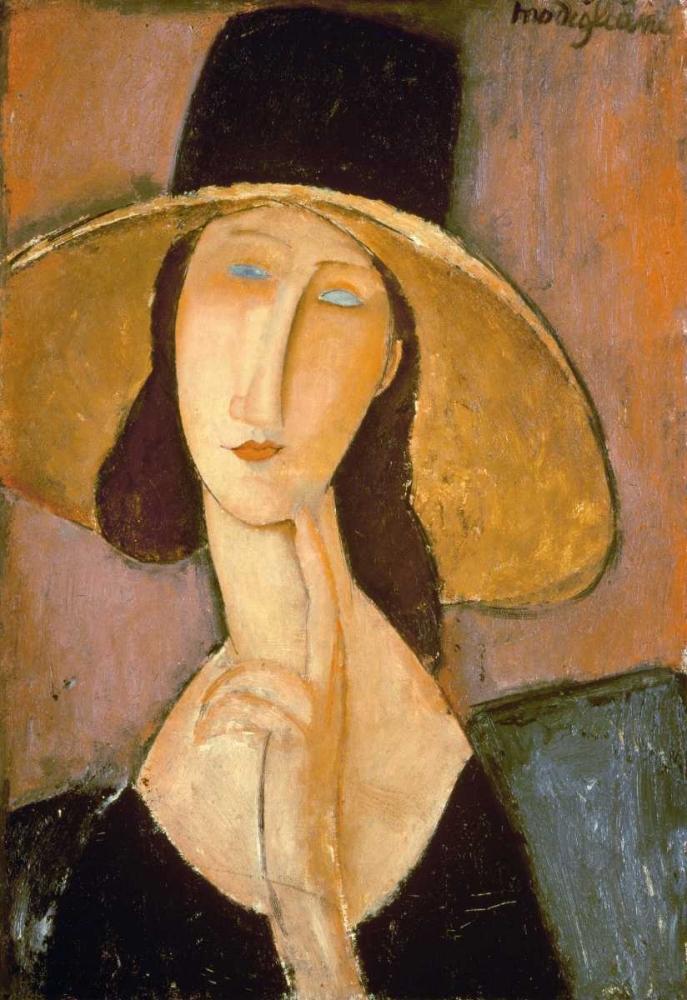 konfigurieren des Kunstdrucks in Wunschgröße Head of a Woman von Modigliani, Amedeo