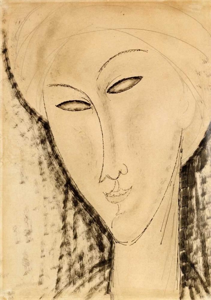konfigurieren des Kunstdrucks in Wunschgröße Tete De Femme von Modigliani, Amedeo