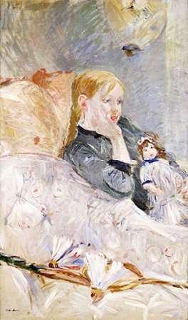 konfigurieren des Kunstdrucks in Wunschgröße Young Girl With a Puppet von Morisot, Berthe
