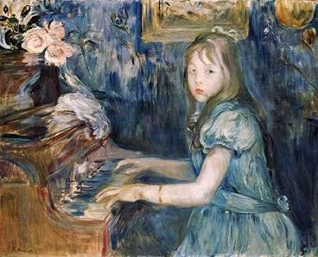 konfigurieren des Kunstdrucks in Wunschgröße Lucie Leon at The Piano von Morisot, Berthe