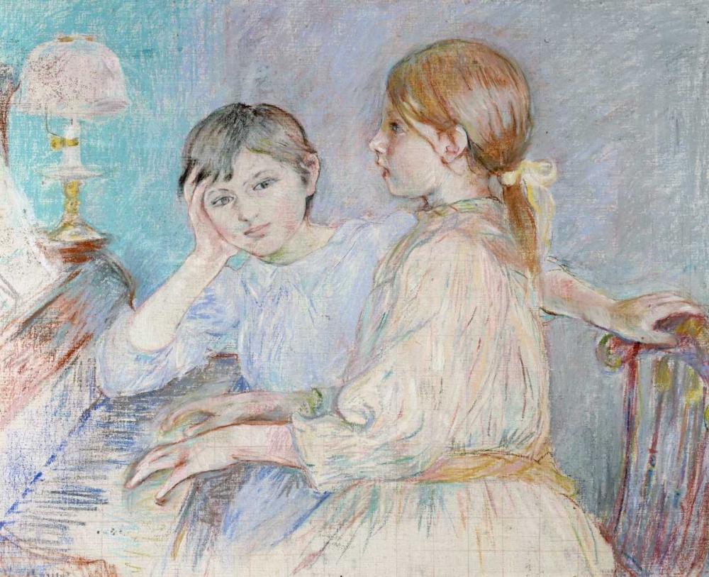 konfigurieren des Kunstdrucks in Wunschgröße Le Piano von Morisot, Berthe