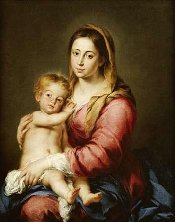 konfigurieren des Kunstdrucks in Wunschgröße The Virgin and Child von Murillo, Bartolome Esteban