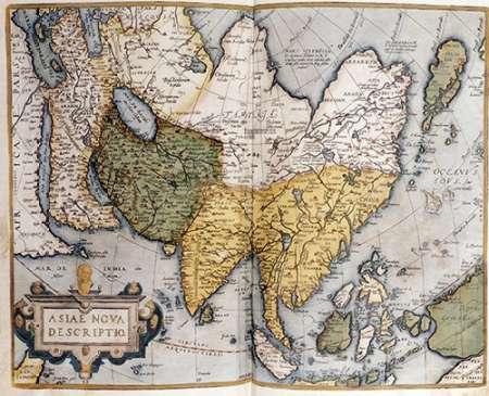 konfigurieren des Kunstdrucks in Wunschgröße Asiae Nova Descriptio von Ortelius, Abraham