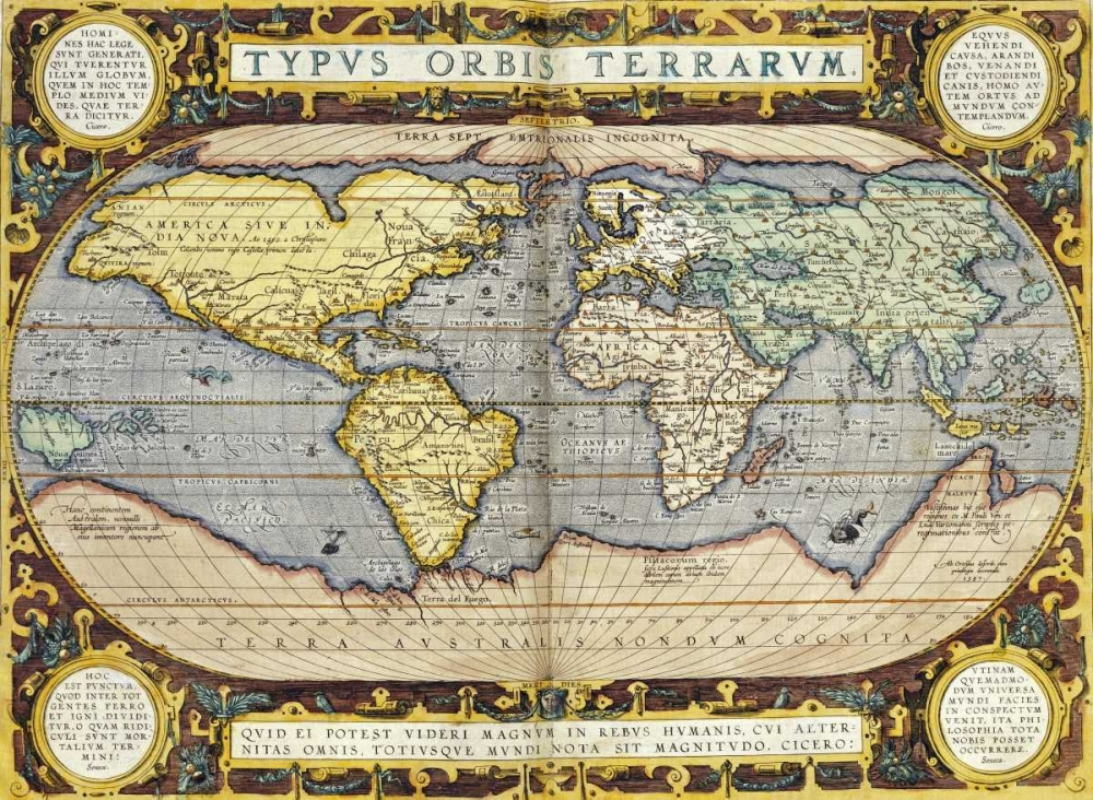 konfigurieren des Kunstdrucks in Wunschgröße Theatrum Orbis Terrarum von Ortelius, Abraham