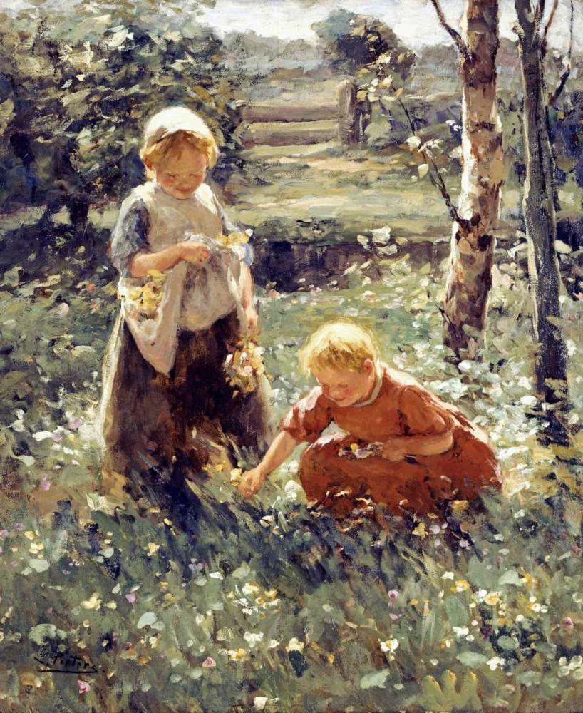 konfigurieren des Kunstdrucks in Wunschgröße Children In a Field von Pieters, Evert