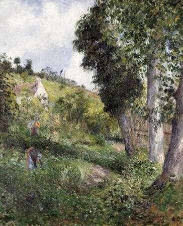 konfigurieren des Kunstdrucks in Wunschgröße Landscape With Cabbage Near Pontoise von Pissarro, Camille