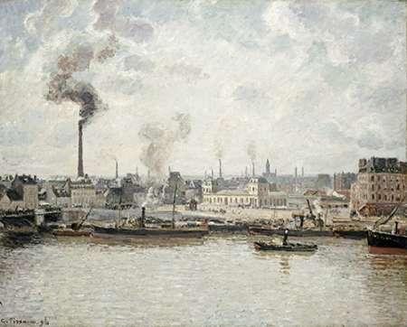 konfigurieren des Kunstdrucks in Wunschgröße Quay at Saint-Sever, Rouen von Pissarro, Camille
