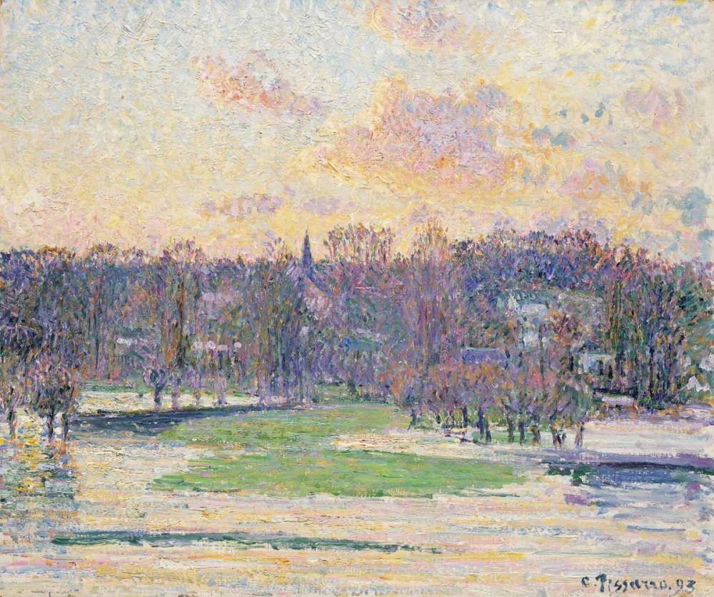 konfigurieren des Kunstdrucks in Wunschgröße Flood at Sunset von Pissarro, Camille