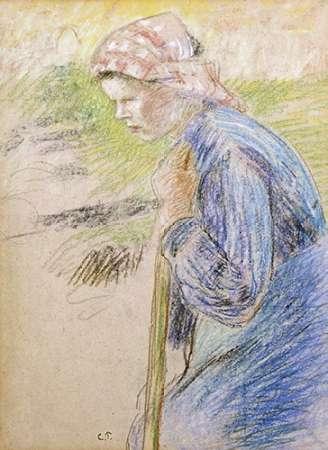konfigurieren des Kunstdrucks in Wunschgröße Young Peasant von Pissarro, Camille