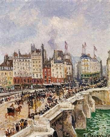 konfigurieren des Kunstdrucks in Wunschgröße Le Pont-Neuf von Pissarro, Camille