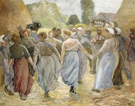 konfigurieren des Kunstdrucks in Wunschgröße La Ronde von Pissarro, Camille