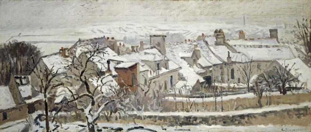 konfigurieren des Kunstdrucks in Wunschgröße Winter von Pissarro, Camille