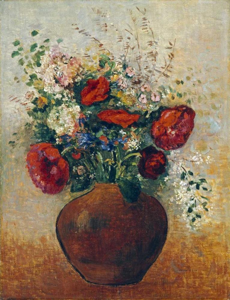 konfigurieren des Kunstdrucks in Wunschgröße Vase of Flowers von Redon, Odilion
