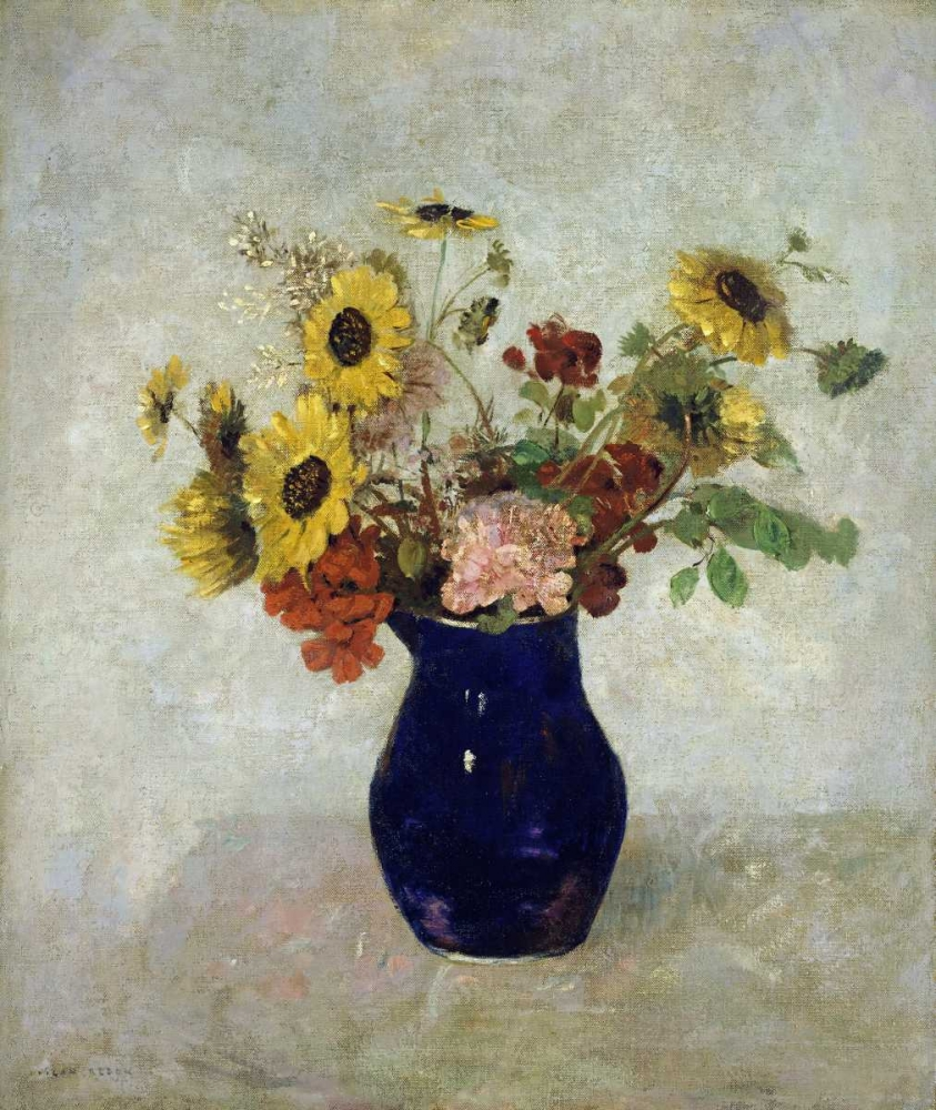 konfigurieren des Kunstdrucks in Wunschgröße Vase De Fleurs von Redon, Odilion