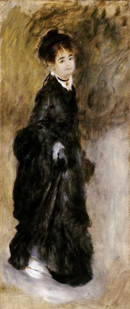 konfigurieren des Kunstdrucks in Wunschgröße A Young Woman von Renoir, Pierre-Auguste