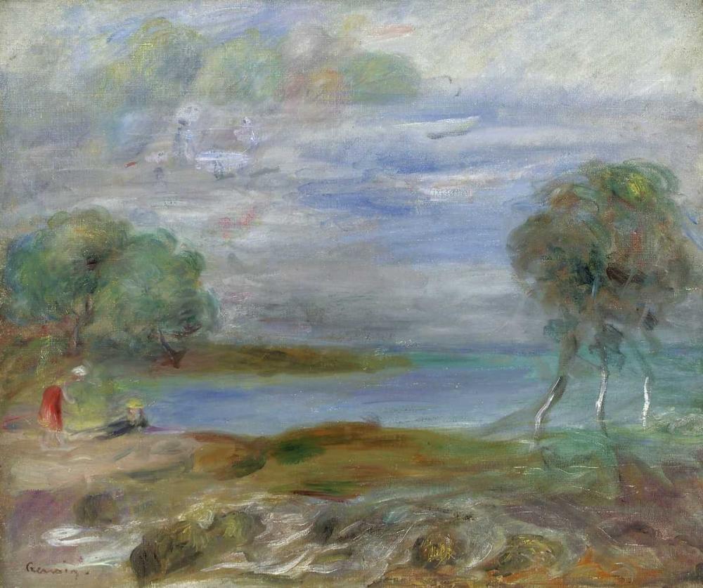 konfigurieren des Kunstdrucks in Wunschgröße Two People at The Waters Edge von Renoir, Pierre-Auguste