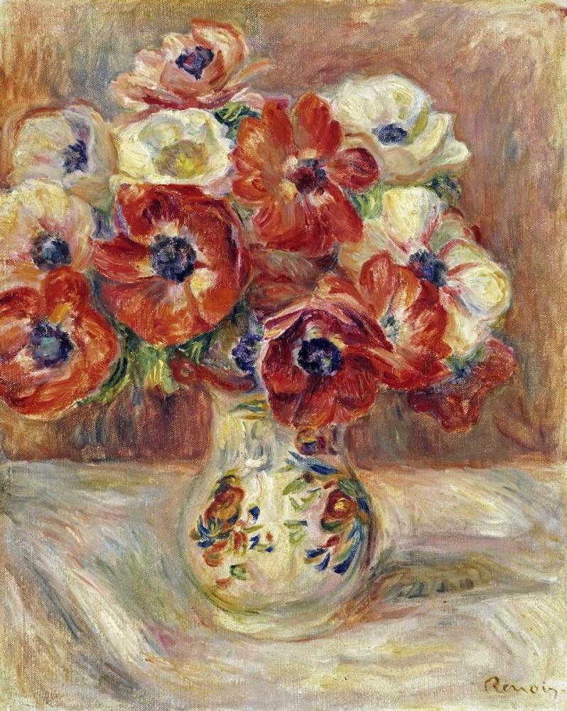konfigurieren des Kunstdrucks in Wunschgröße Still Life With Anemones von Renoir, Pierre-Auguste