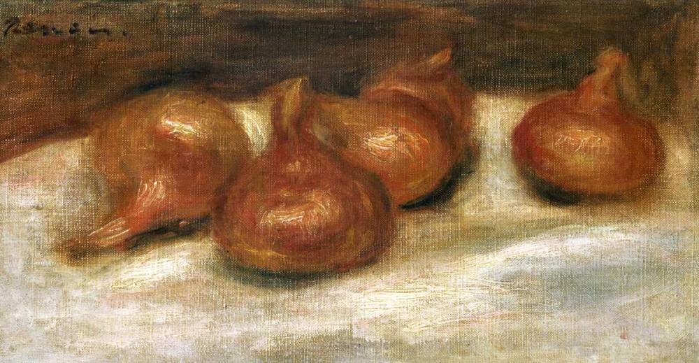 konfigurieren des Kunstdrucks in Wunschgröße Still Life With Onions von Renoir, Pierre-Auguste