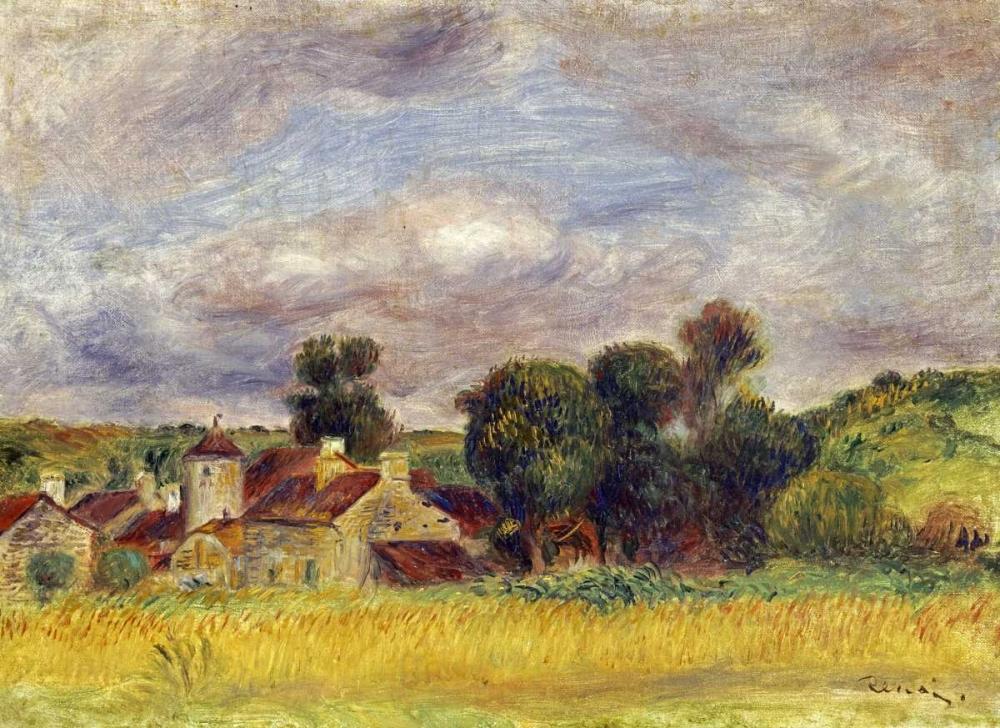 konfigurieren des Kunstdrucks in Wunschgröße Brittany Countryside von Renoir, Pierre-Auguste