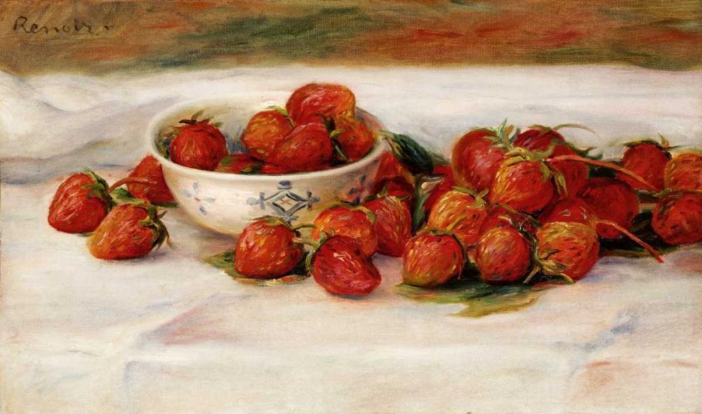 konfigurieren des Kunstdrucks in Wunschgröße Strawberries von Renoir, Pierre-Auguste