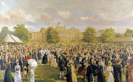 konfigurieren des Kunstdrucks in Wunschgröße Queen Victorias Jubilee Garden Party von Einzelbilder