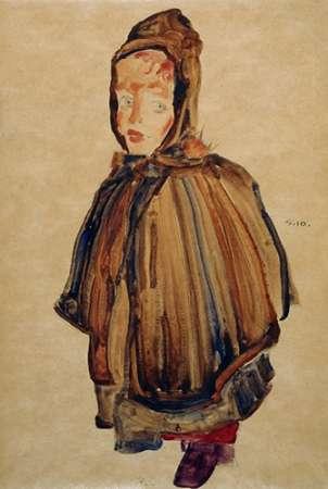 konfigurieren des Kunstdrucks in Wunschgröße Woman With Bonnet von Schiele, Egon