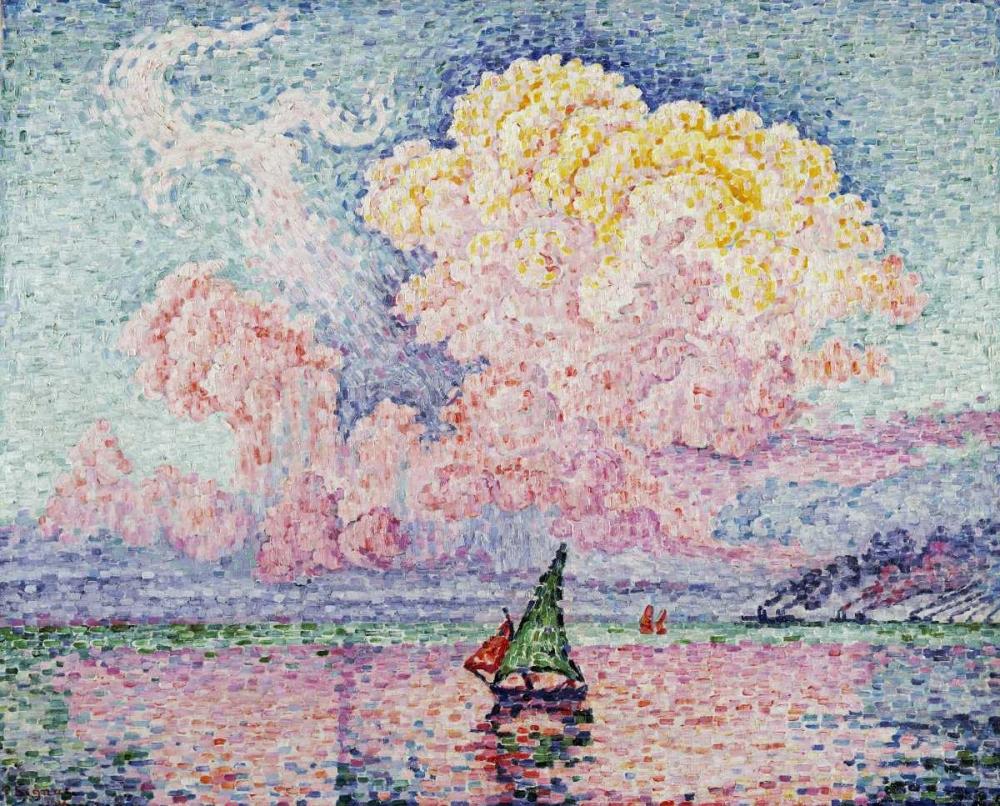 konfigurieren des Kunstdrucks in Wunschgröße Pink Clouds, Antibes von Signac, Paul