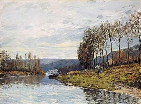 konfigurieren des Kunstdrucks in Wunschgröße The Seine at Bougival von Sisley, Alfred