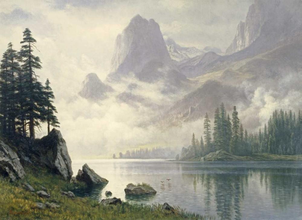 konfigurieren des Kunstdrucks in Wunschgröße Mountain Out of The Mist von Bierstadt, Albert
