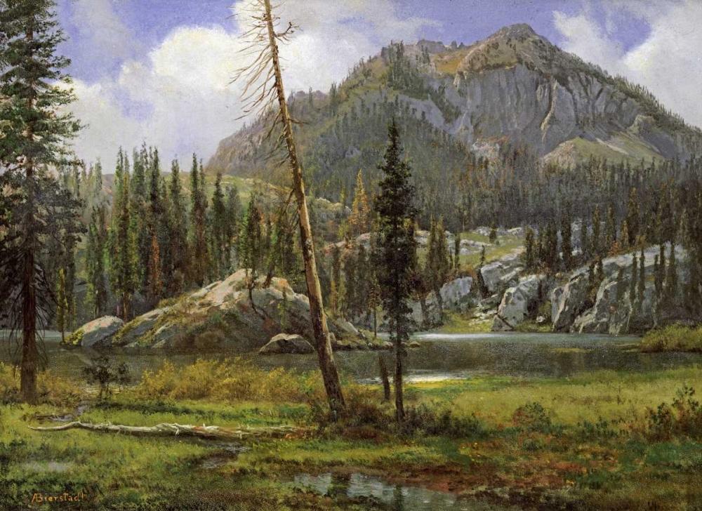 konfigurieren des Kunstdrucks in Wunschgröße Sierra Nevada Mountains von Bierstadt, Albert